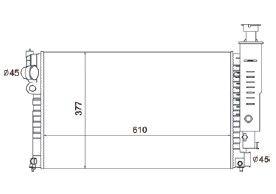 Radiador 405 II 1.6 / 1.8 / 2.0 ( 92 - 96 ) com Ar / Automatico / Aluminio Brasado - CFB4515142