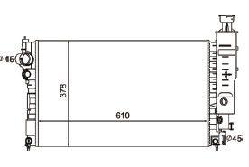 Radiador 405 2.0 ( 94 > ) com / sem Ar / Manual / Aluminio Brasado - CFB4516523