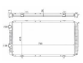 Radiador Boxer 2.5 / 2.8 D / TD ( 94 - 11 ) Expandido com / sem Ar / Manual / Aluminio Mecanico - CFB7011534