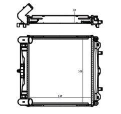 Radiador Boxter 2.5 / 2.7 / 3.2 ( 96 - 04 ) com Ar / Manual / Aluminio Brasado - CFB20056132