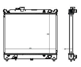 Radiador Vitara 1.6 ( 91 - 97 ) com / sem Ar / Manual / Aluminio Brasado - CFB20043126