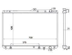 Radiador Camry 3.0 V6 ( 92 - 93 ) com / sem Ar / Automatico / Manual / Aluminio Brasado - CFB1303126