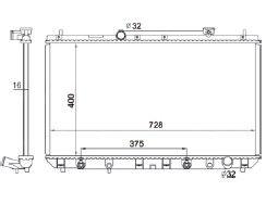 Radiador Camry 2.2 ( 97 - 01 ) com / sem Ar / Automatico / Manual / Aluminio Brasado - CFB1909116