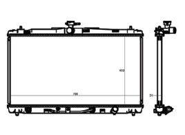 Radiador Camry 3.5 V6 ( 12 > ) com Ar / Automatico / Manual / Aluminio Brasado - CFB20483126
