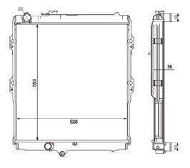 Radiador Hillux Srv Aspirada ( 02 - 05 ) com / sem Ar / Manual / Aluminio Brasado - CFB20504136
