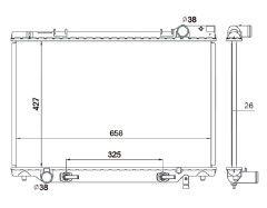 Radiador Previa Van 2.4 L4 ( 91 - 97 ) com Ar / Automatico / Manual / Aluminio Brasado - CFB1155126