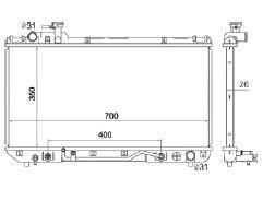 Radiador Rav4 2.0 L4 ( 96 - 97 ) com / sem Ar / Automatico / Manual / Aluminio Brasado - CFB1859126