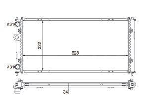 Radiador Polo 1.8 Classic ( 99 - 02 ) sem Ar / Manual / Aluminio Mecanico - CFB5747534