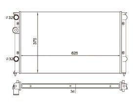 Radiador Polo 1.8 Classic ( 99 - 02 ) com Ar / Manual / Aluminio Mecanico - CFB5733534