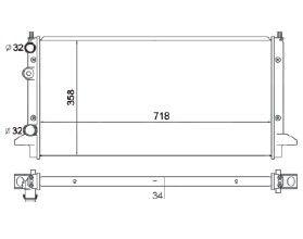 Radiador Passat Iv 1.8 / 2.0 ( 94 - 97 ) com / sem Ar / Manual / Aluminio Mecanico - CFB5172534