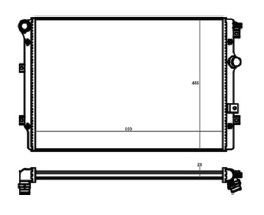 Radiador Tiguan 2.0 TFSI ( 08 > ) com Ar / Automatico / Manual / Aluminio Brasado - CFB20058126