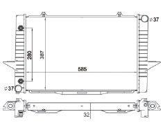 Radiador 850 2.3 / 2.4 L5T ( 93 - 97 ) / C70 / S70 / V70 2.3 / 2.4 / 2.5 com / sem Ar / Automatico / Manual / Aluminio Brasado - CFB1851132