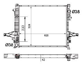 Radiador Xc 90 2.5 L5 / 2.9 L6 / 4.4 V8 ( 03 - 06 ) com Ar / Automatico / Manual / Aluminio Brasado - CFB2878142