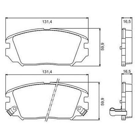 Pastilha de Freio Dianteira Azera V6 DOHC 07 / 09 Sonata V6 3.3L ( 24 ) DOHC 06 / 09 com Alarme ( Jurid ) - CHQJ2268A