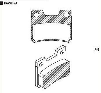 Pastilha de Freio Escort Xr3 2.0I / Verona 1993 / 1996 / ( Traseiro ) Sistema Teves - CSP133