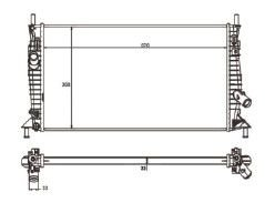 Radiador Focus 1.6 / 2.0 16V ( 09 - 13 ) com Ar / Manual / Aluminio Brasado - CFB2299122