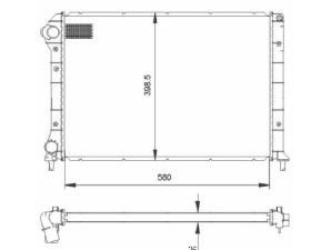 Radiador Doblo 1.6 16V / 1.8 ( 01 > ) com / sem Ar ou 1.3 com Ar / Manual / Aluminio Mecanico - CFB22208126