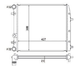 Radiador Fox 1.0 / 1.6 / Polo 1.6 ( 03 - 05 ) sem Ar / Manual / Aluminio Mecanico - CFB5182523
