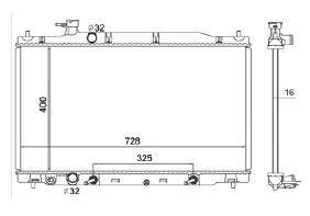 Radiador Crv 2.0 / 2.4 16V ( 07 > ) com / sem Ar / Automatico / Manual / Aluminio Brasado - CFB2954016