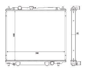 Radiador Pajero 2.8 Diesel ( 94 - 00 ) com Ar / Manual / Aluminio Brasado - CFB20418142