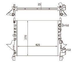 Radiador Twingo 1.2 ( 93 > ) sem Ar / Automatico / Manual / Aluminio Mecanico - CFB4753523