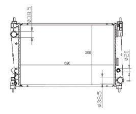 Radiador Punto 1.6 16V / 1.8 8 / 16V ( 08 > ) com / sem Ar / Mecanico Tec. Am - CFB22851534