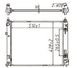 Radiador March 1.0 / 1.6 16V ( 11 > ) com Ar / Manual / Aluminio Brasado - CFB20082116