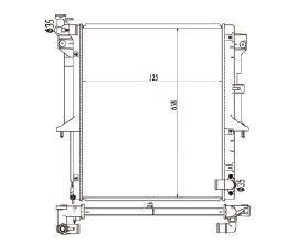 Radiador L200 Triton 3.2 TD ( 07 > ) com / sem Ar / Manual / Aluminio Brasado - CFB20579116