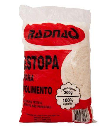 Estopa Branca para Polimento 200g - RADNAQ-MK5076-01