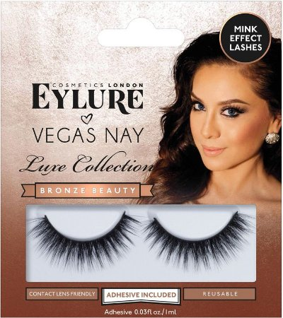 Cílios Postiços Eylure Vegas Nay Luxe Collection Bronze Beauty - 1 Par