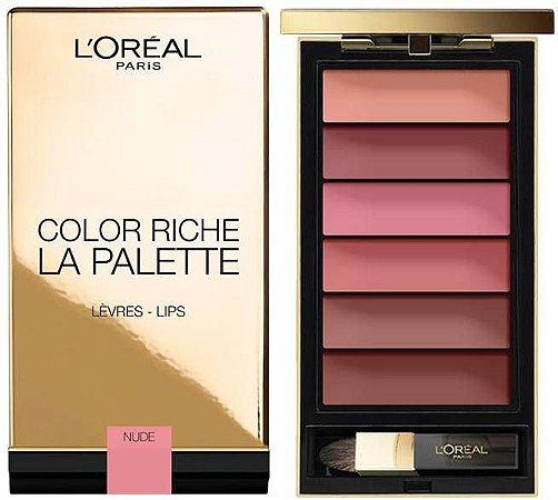 Paleta de Batom Color Riche Nude L'Oreal Paris