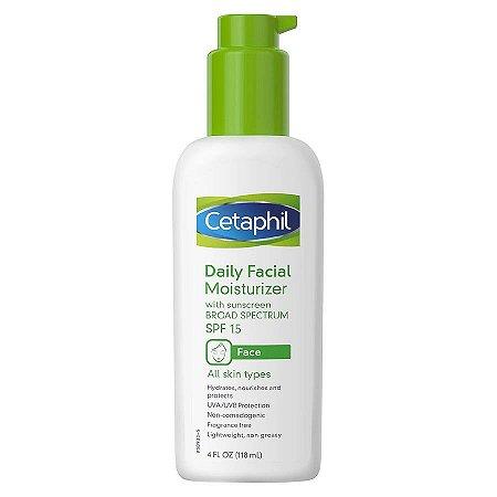 Hidratante facial diário sem fragrância FPS15 Cetaphil 118ml