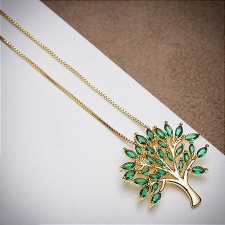 Colar Árvore da Vida Esmeralda