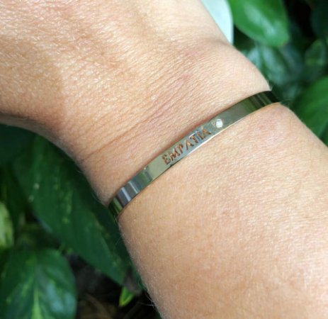 Bracelete Escrito Empatia