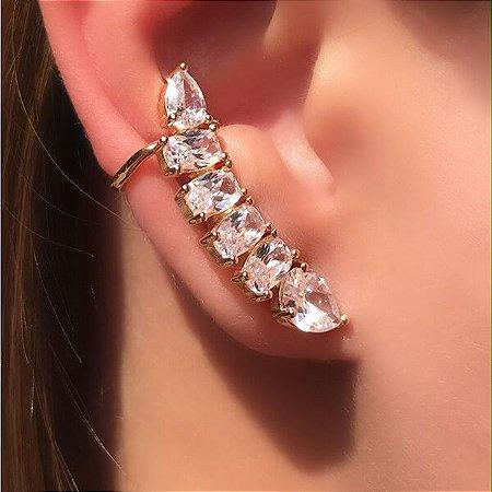 Brinco Ear Cuff Cristal