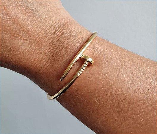 Bracelete Prego Banhado à Ouro