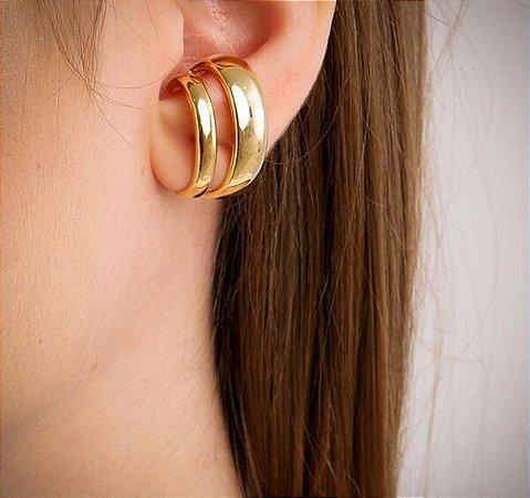 Brinco Ear Hook Tubo Duplo