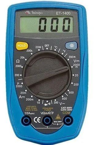 Multímetro Digital Profissional Minipa Et-1400 Original Ac