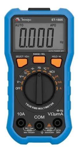 Multímetro Digital Temperatura True Rms Et-1505 Minipa AC