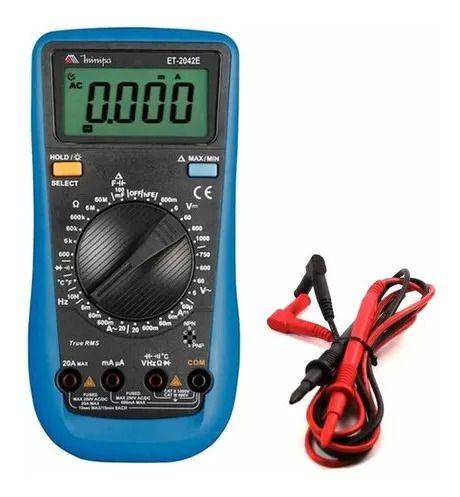 Multimetro Digital Profissional True Rms Et-2042e Minipa