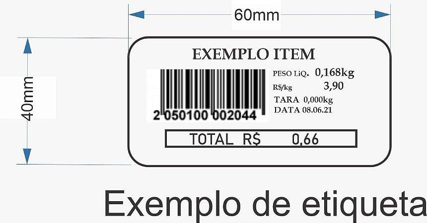 Etiqueta Térmica 60x40 Para Combo Wind Super Upx 36 Rolos