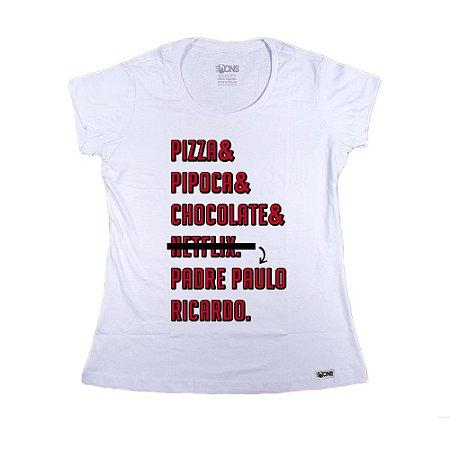 Baby Look Pizza Pipoca ref 150