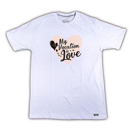 Camiseta Minha vocação é o Amor ref 140