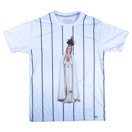 Camiseta Feminina UseDons Nossa Senhora de Fátima Listrada