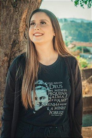 Camiseta Feminina Santa Teresinha do Menino Jesus ref 160