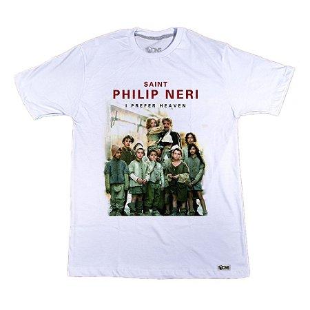 Camiseta Usedons Eu prefiro o Paraíso - São Filipe Neri
