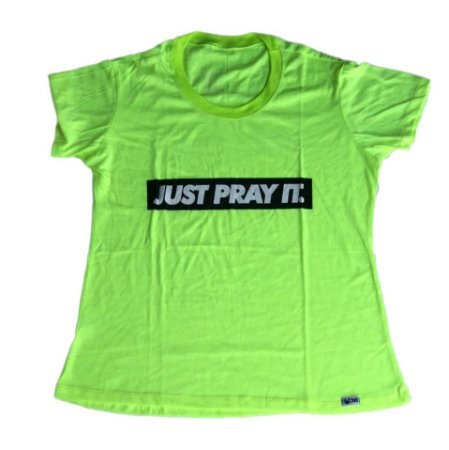 Baby Look Just Pray It Verde Neon outlet