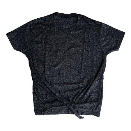 Blusa de laço preto mescla outlet