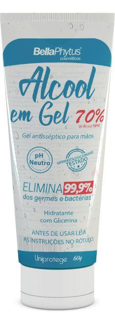 ALCOOL 70% GEL 60G BISNAGA