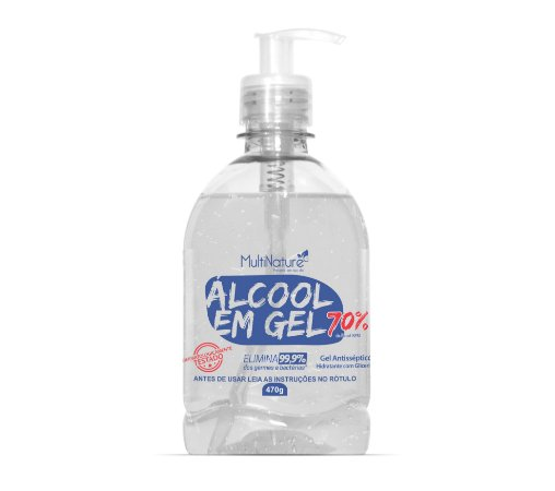 Álcool 70% Gel 470G Com Glicerina - Válvula